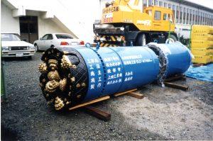 平成14年綾部市下水道幹線工事で使用した推進機